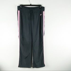 Nike Black and Pink Striped Lined Athletic Pants